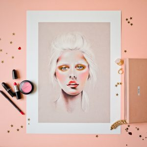 An illustration for Mac Cosmetics by local artist Kelly Thompson.