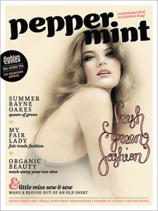 Peppermint Magazine cover by local artist Bec Winnel.