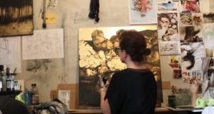 Nicole in the studio.