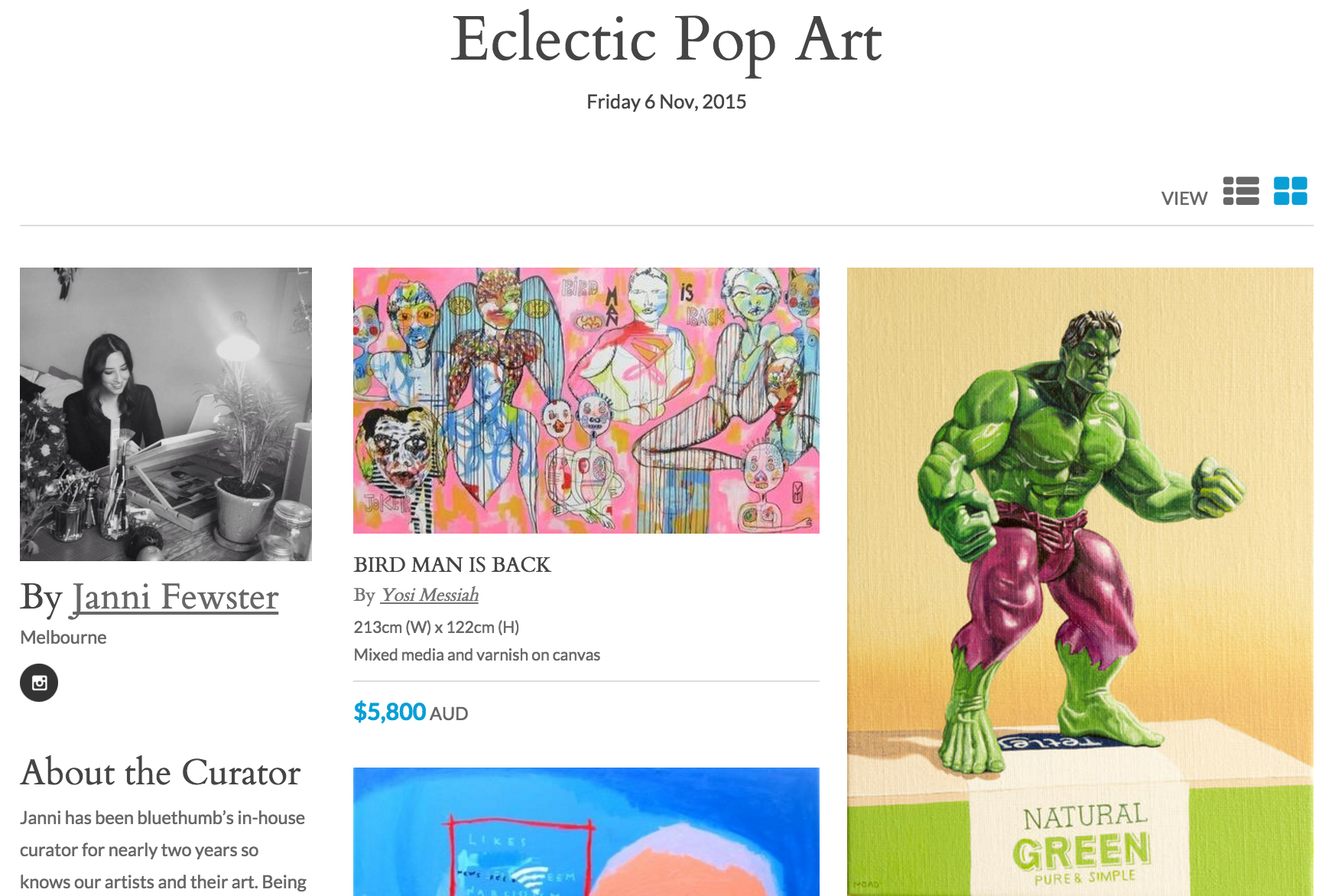 Curation page