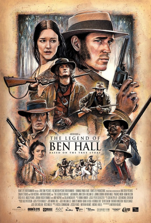 Hand drawn movie poster will be showcased at The Art of Ben Hall