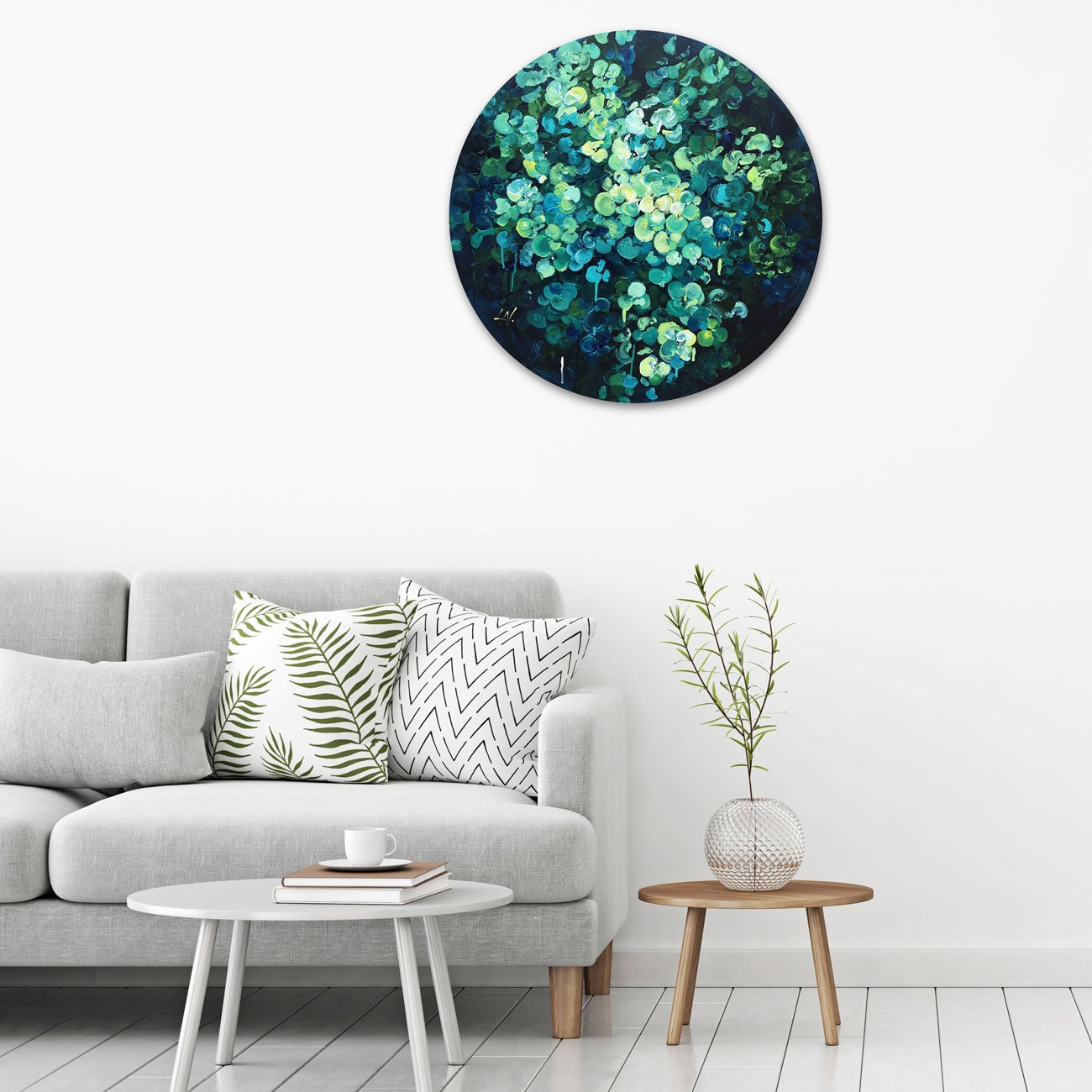 Circular artwork in situ