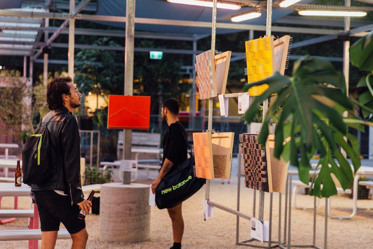 Popup exhibition outside art
