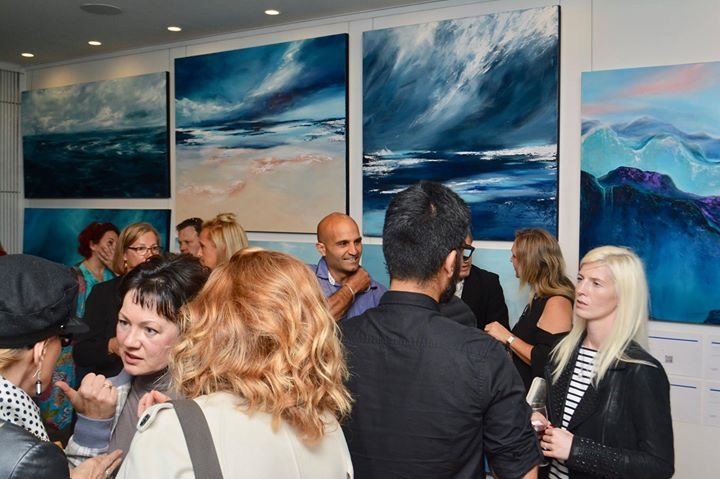 Kat Las paintings at Bluethumb Sydney Pop-Up Exhibition