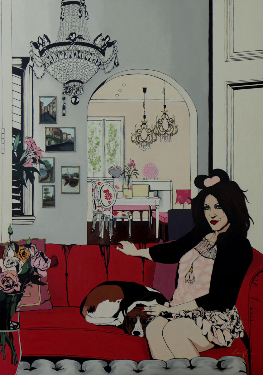 I Am Alannah Hill by Leigh White. Original paintings for sale on Bluethumb.