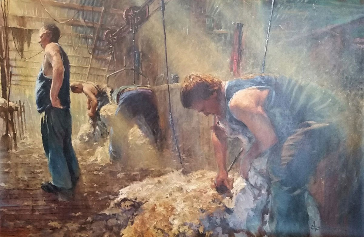 Smoko by Robert Hagan. Australian impressionist art for sale on Bluethumb