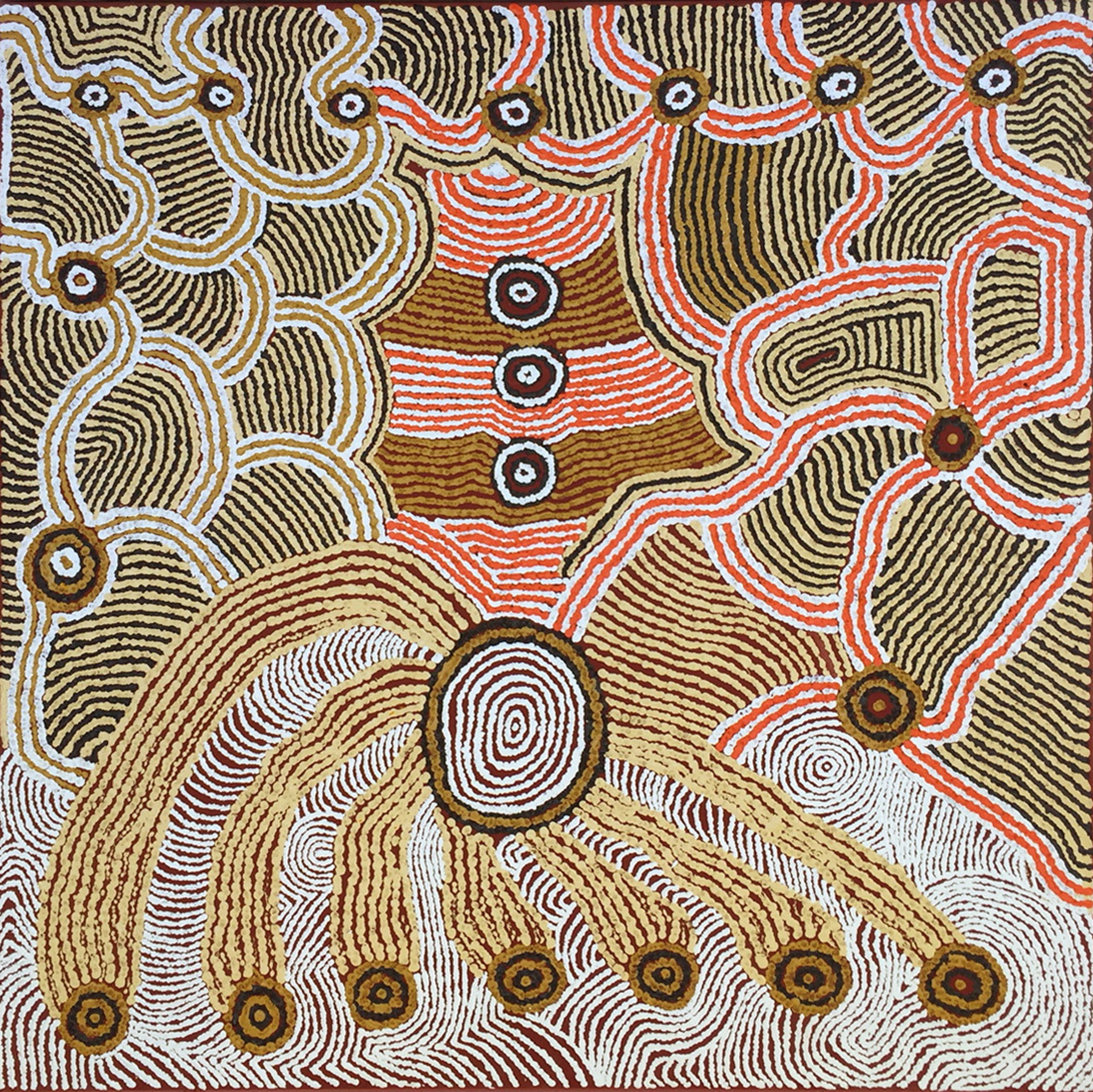 Tali (sand hills) by Marcia Mitchell of Papulankutja Artists