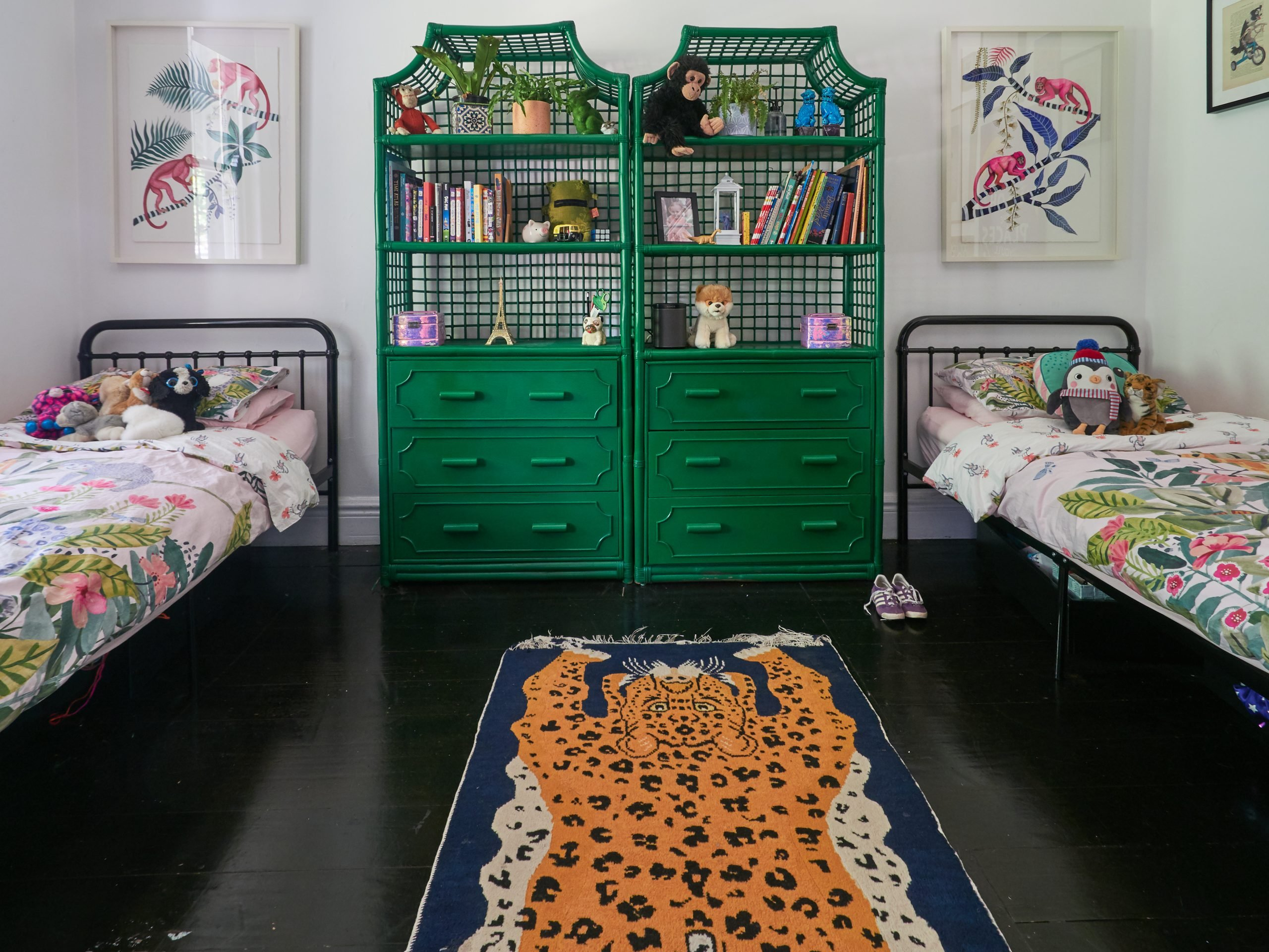 Eclectic kids room at Sally Browne's house