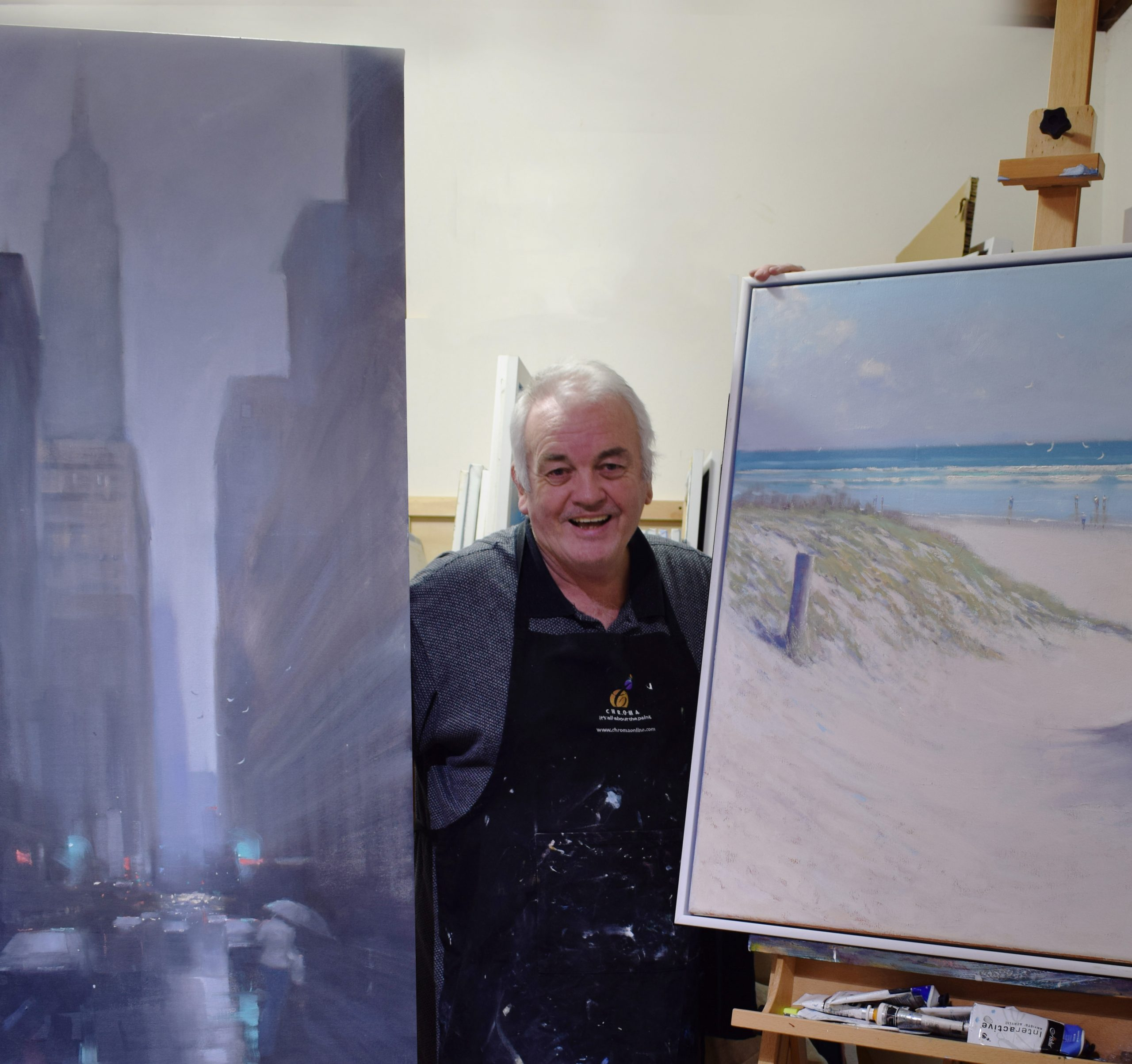 Local Adelaide streetscape painter Mike Barr