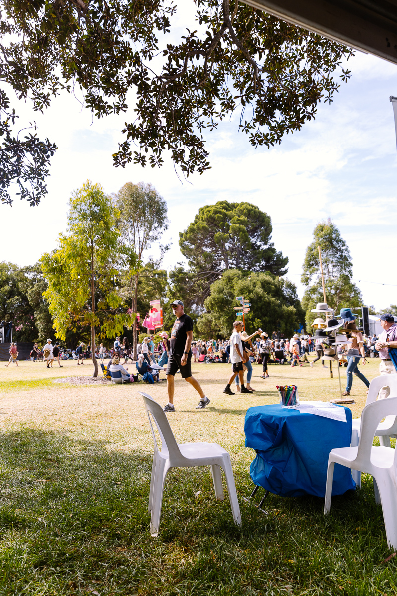 Bluethumb's art stall at WOMADelaide 2020