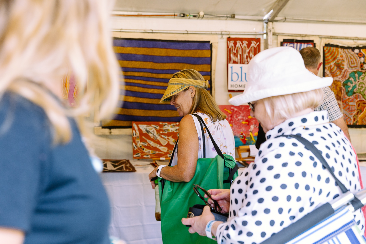 Bluethumb's art stall at WOMADelaide