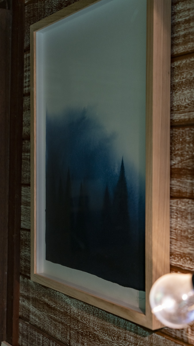A Forest II by Casey Freeman hangs in the home of Steve Munro