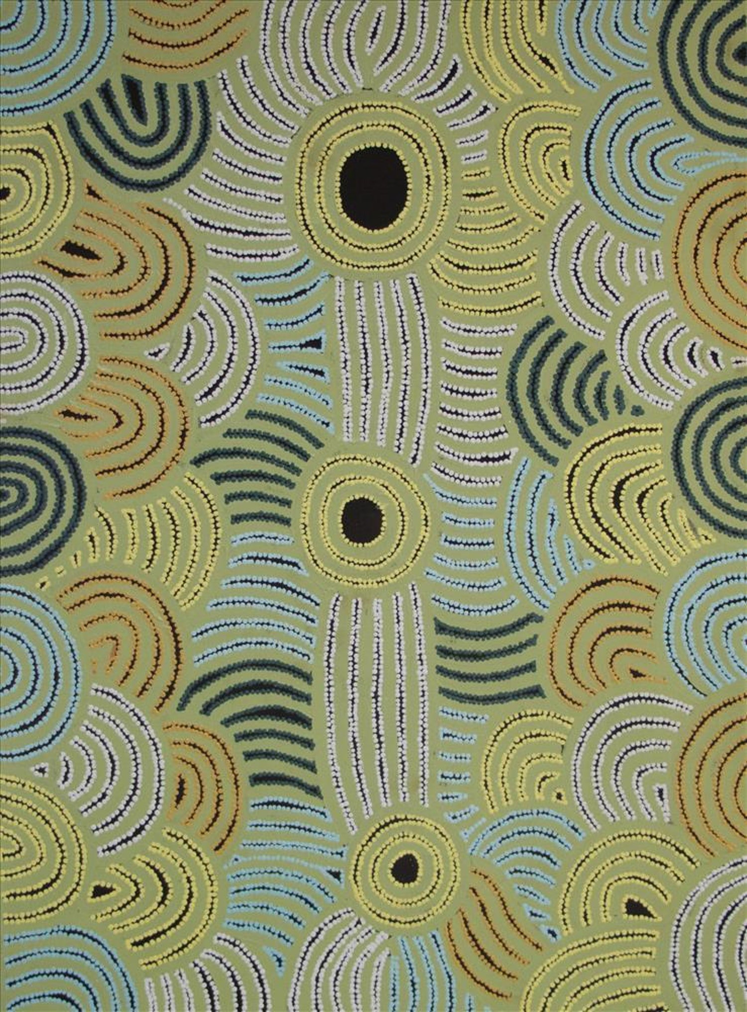 Bluethumb payment methods: Afterpay. Green Aboriginal artwork by Fiona Young of Tjarlili Art