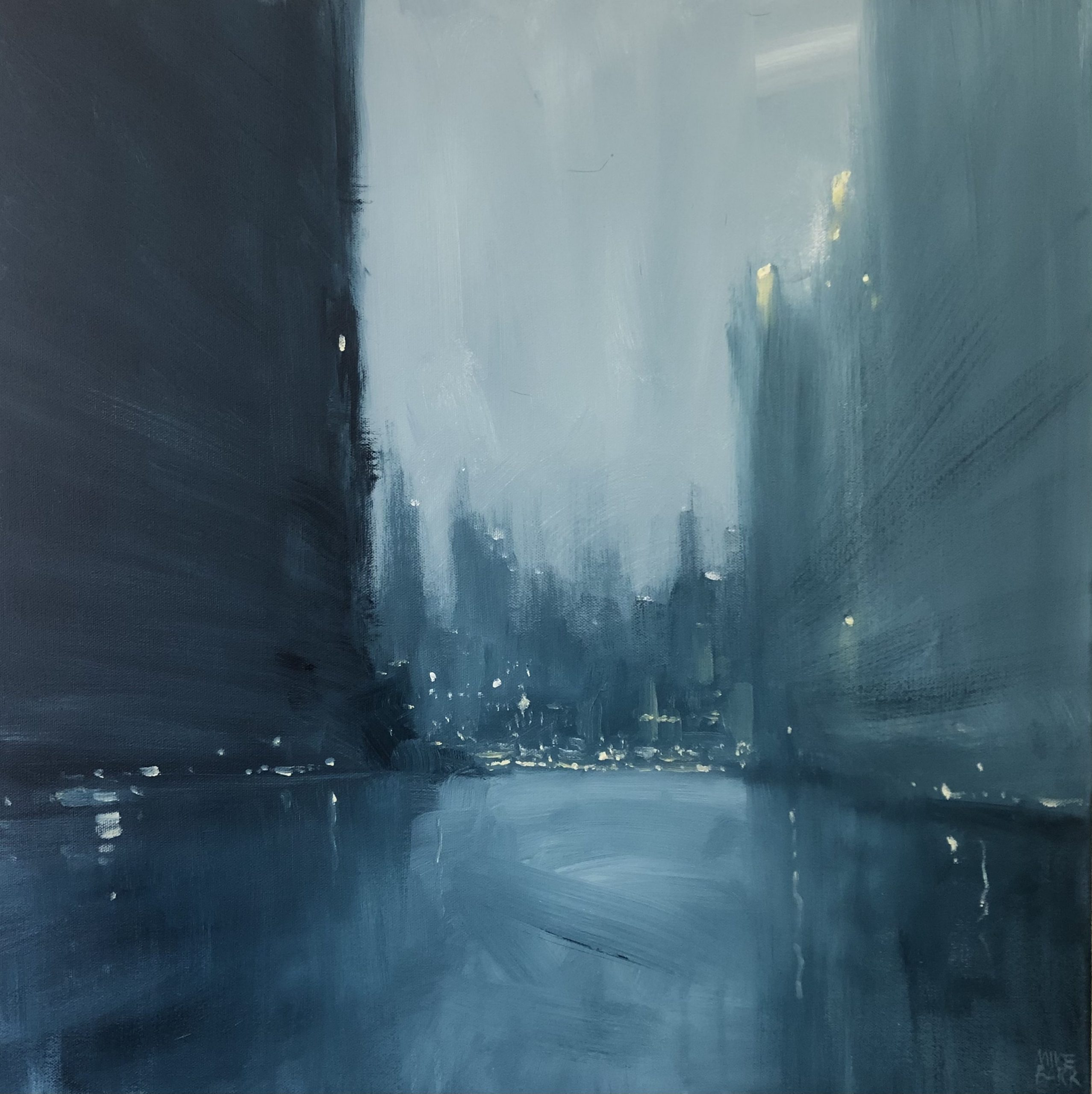 cityscape painting by Mike Barr