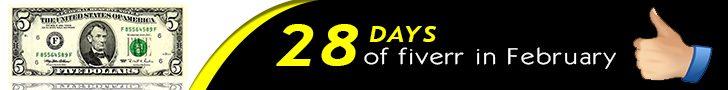28 Days of Fiverr logo